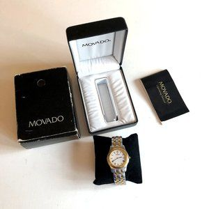 VTG Men's Movado Watch 2-Tone Stainless BOX